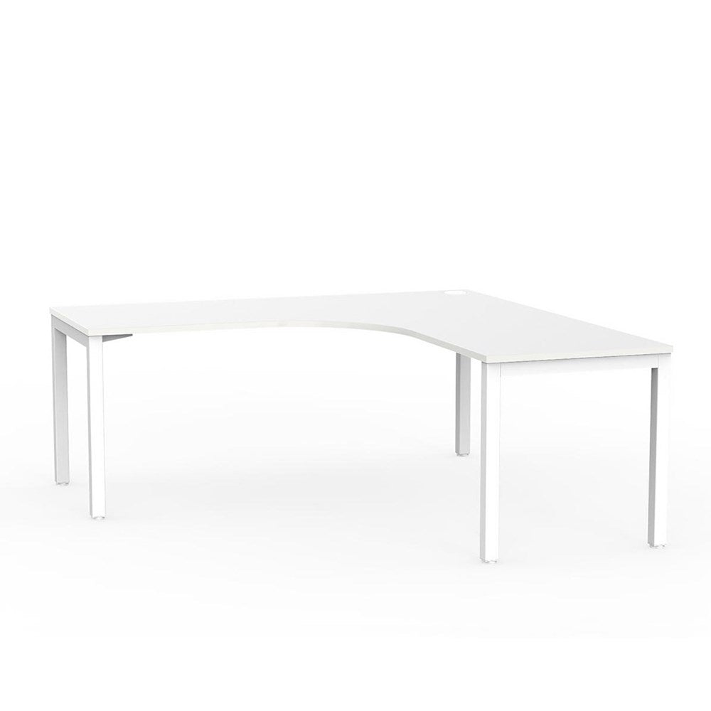 Cubit Corner Desk - White / White