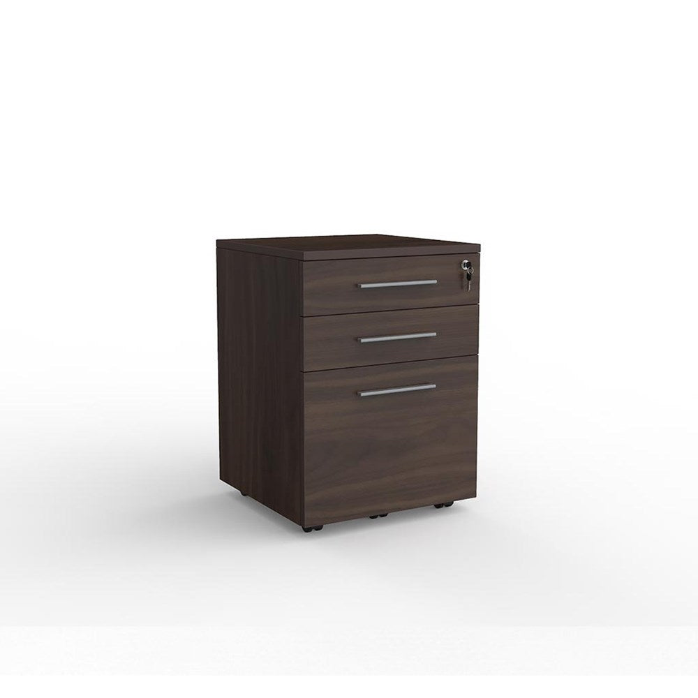 Cubit Locking 2-Drawer and File Mobile Storage Unit
