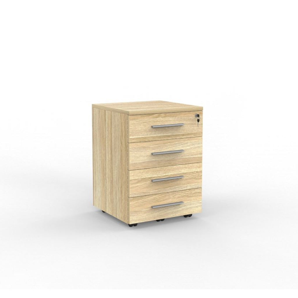 Cubit Locking 4-Drawer Mobile Storage Unit