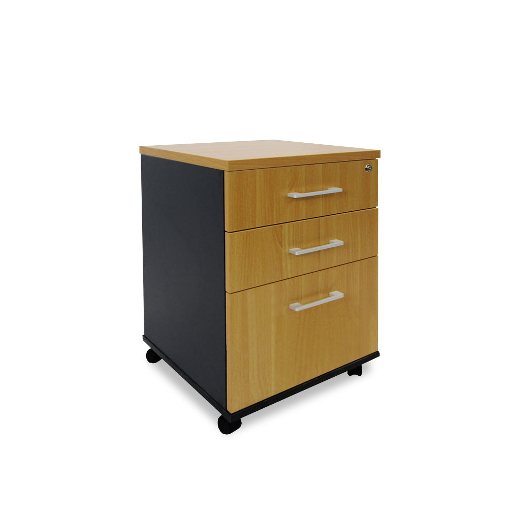 Mobel Delta Locking 2-Drawer and File Mobile Storage Unit
