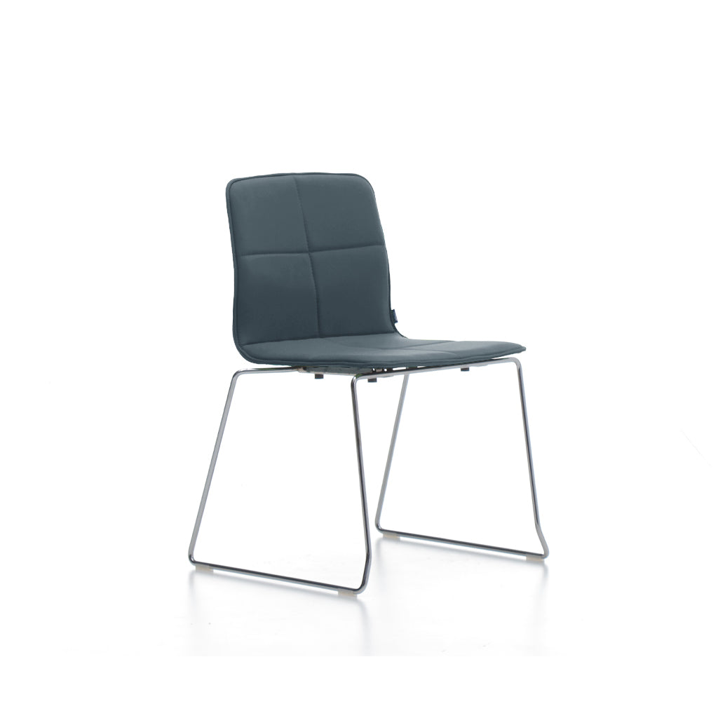 Mobel Eon Chair with Chrome Sled Base