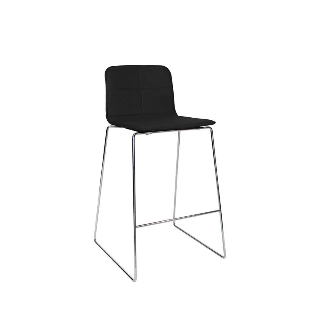 Mobel Eon Bar Stool with Chrome Sled Frame