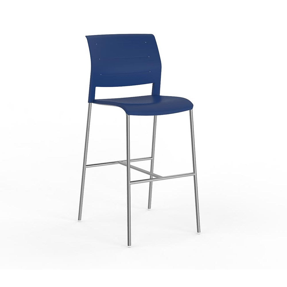 Game Conference Bar Stool Chrome Frame