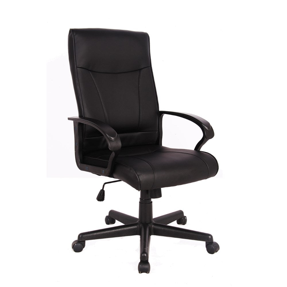 Hemsworth Black Leather High Back Executive Chair