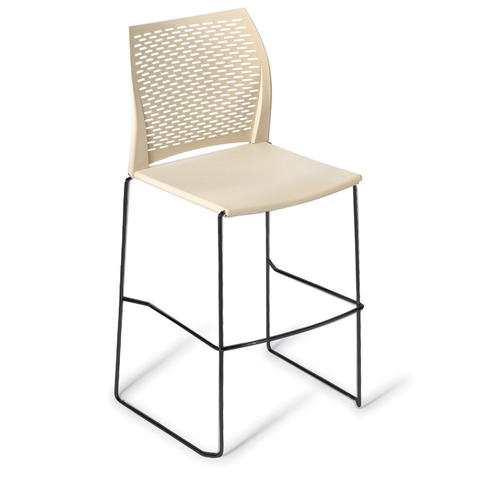 Net Black Frame Bar Stool