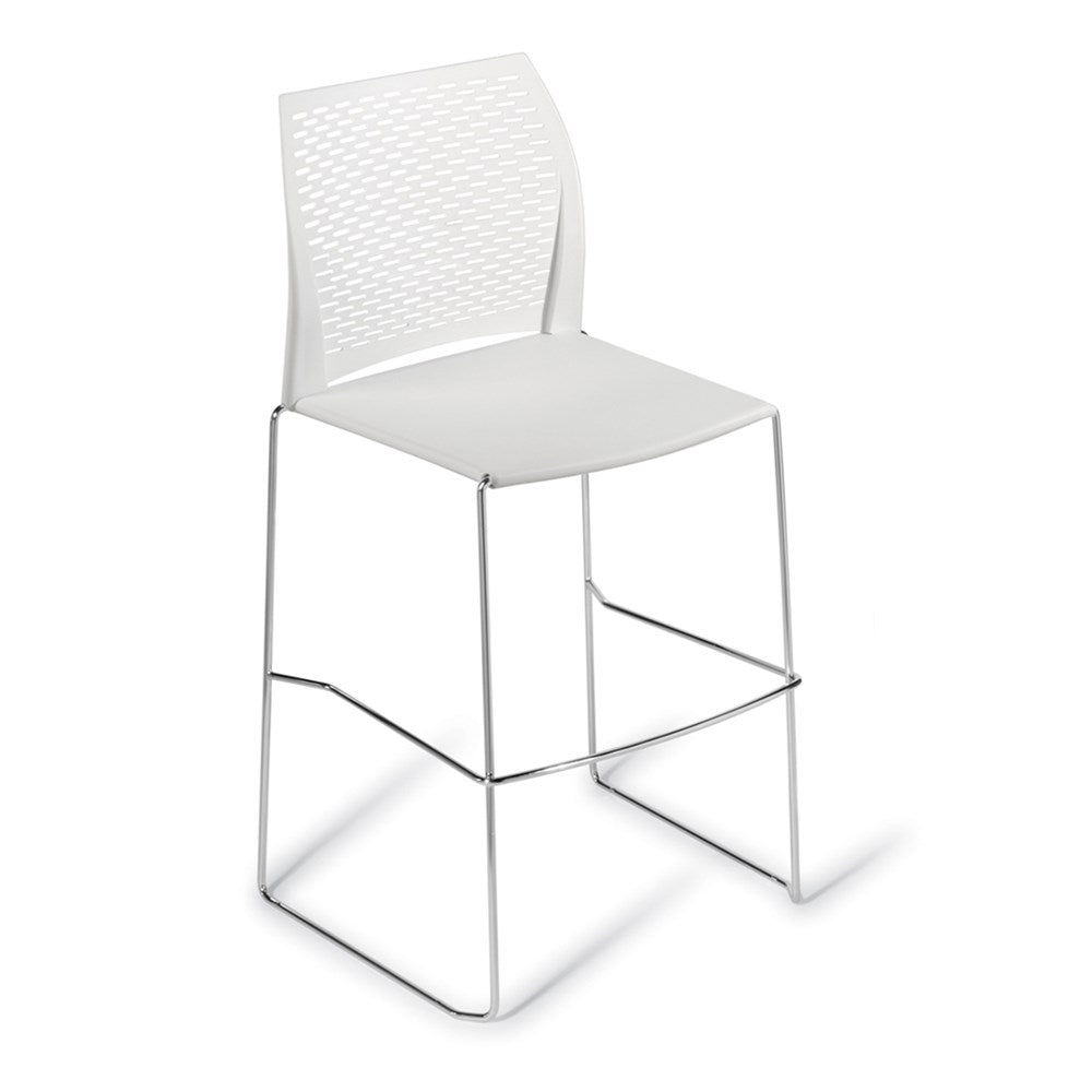 Net Chrome Frame Bar Stool