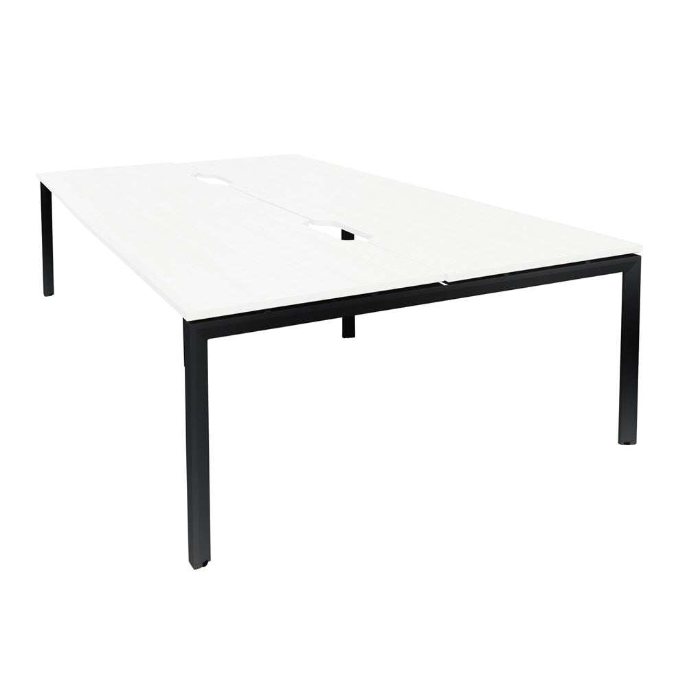 Mobel Novah 1800 Double-Sided Shared Desk – Black / White