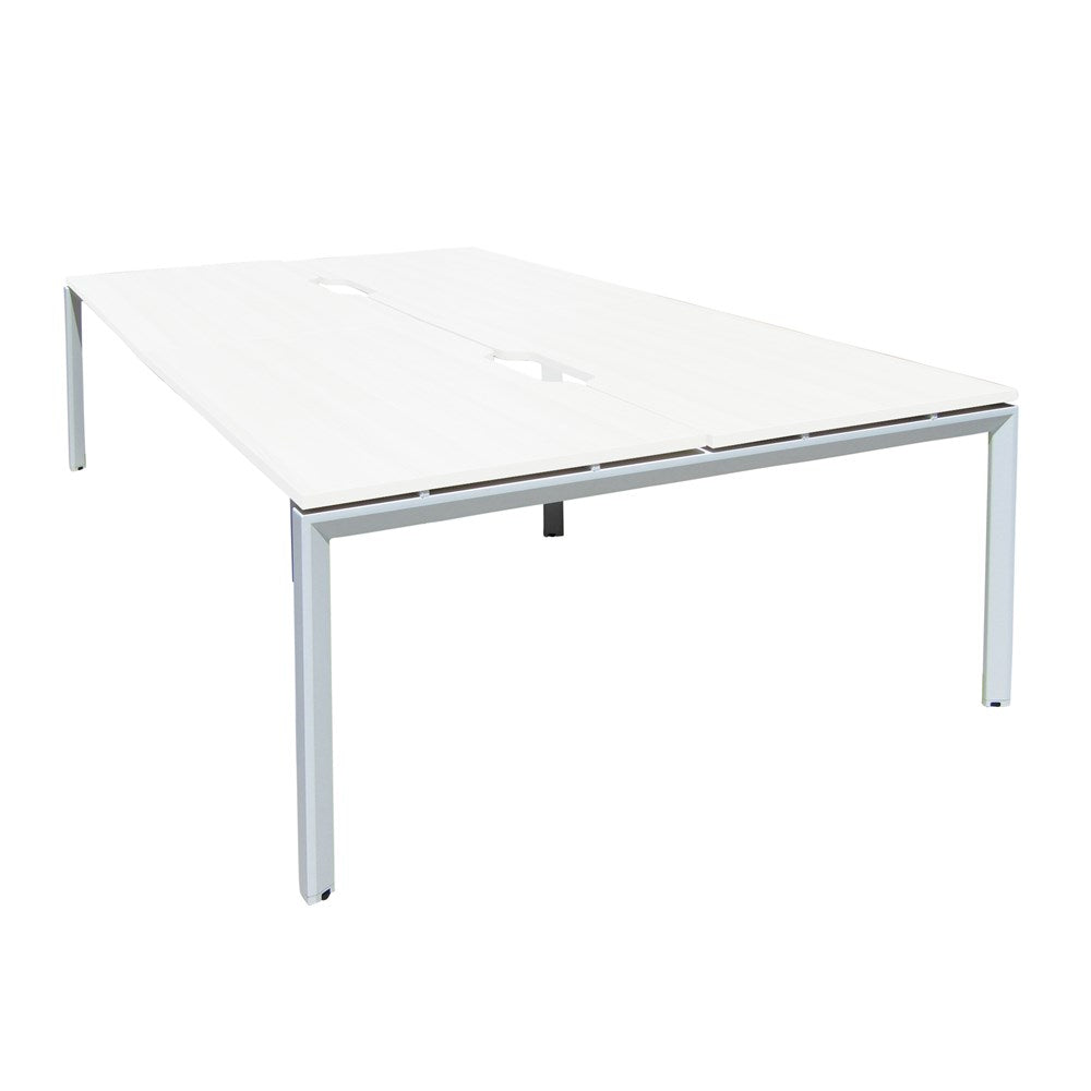 Mobel Novah 1500 Double-Sided Shared Desk – White / White