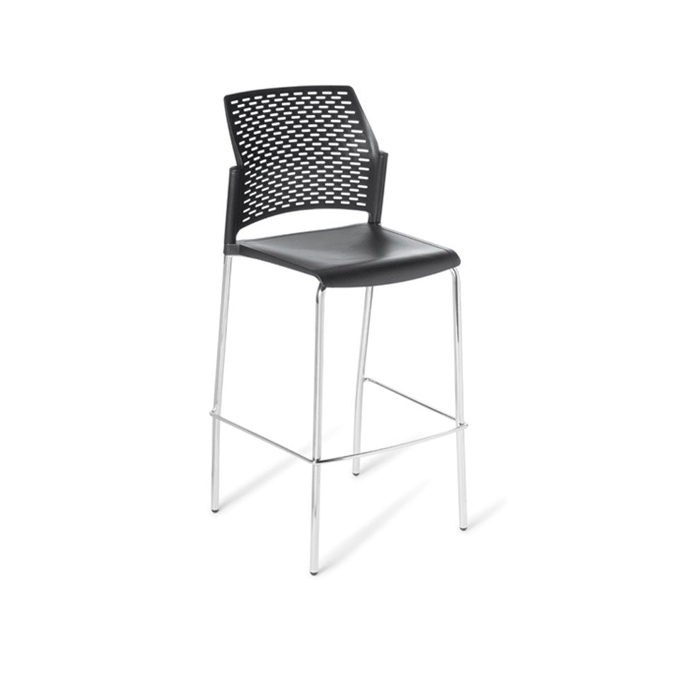Punch Chrome Frame Bar Stool