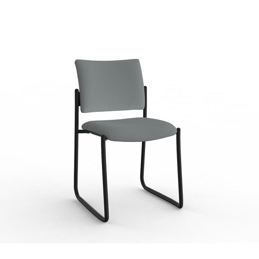 Que Sled Black Frame Visitor Chair