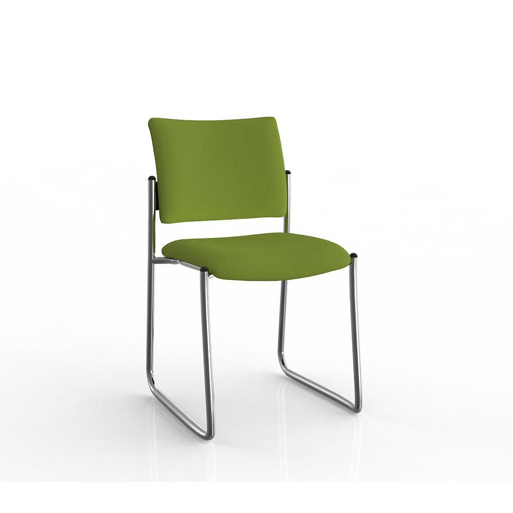 Que Sled Chrome Frame Visitor Chair