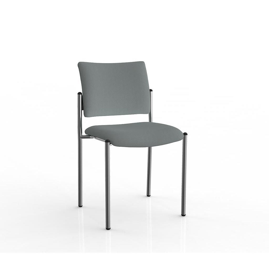 Que Stacker Chrome Frame Visitor Chair
