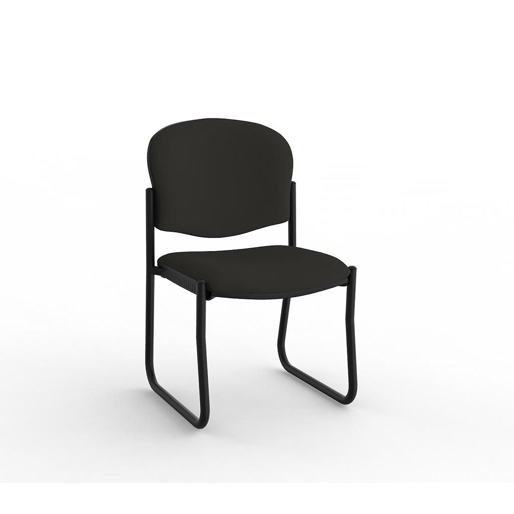 Raz Sled Black Frame Visitor Chair