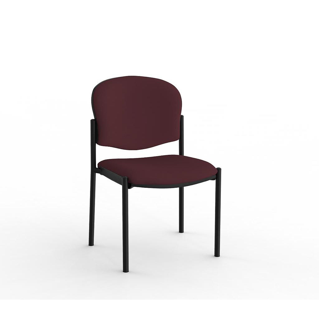 Raz Stacker Black Frame Visitor Chair