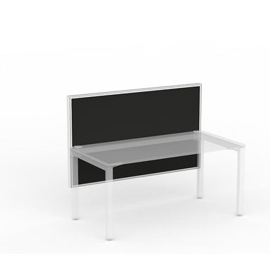 Studio50 Desk Hung Screen 1500w x 900h White Frame