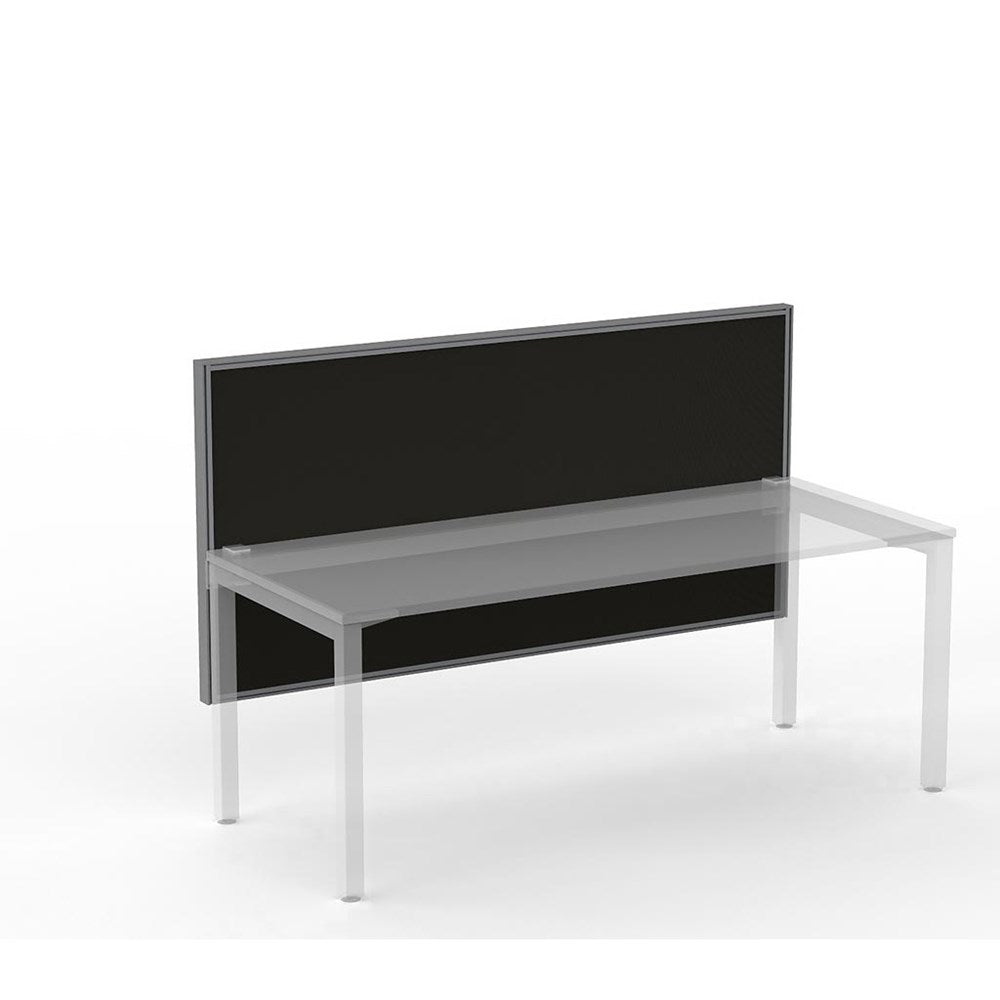 Studio50 Desk Hung Screen 1800w x 900h Black Frame