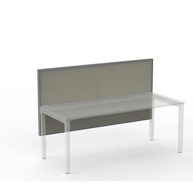 Studio50 Desk Hung Screen 1800w x 900h Silver Frame