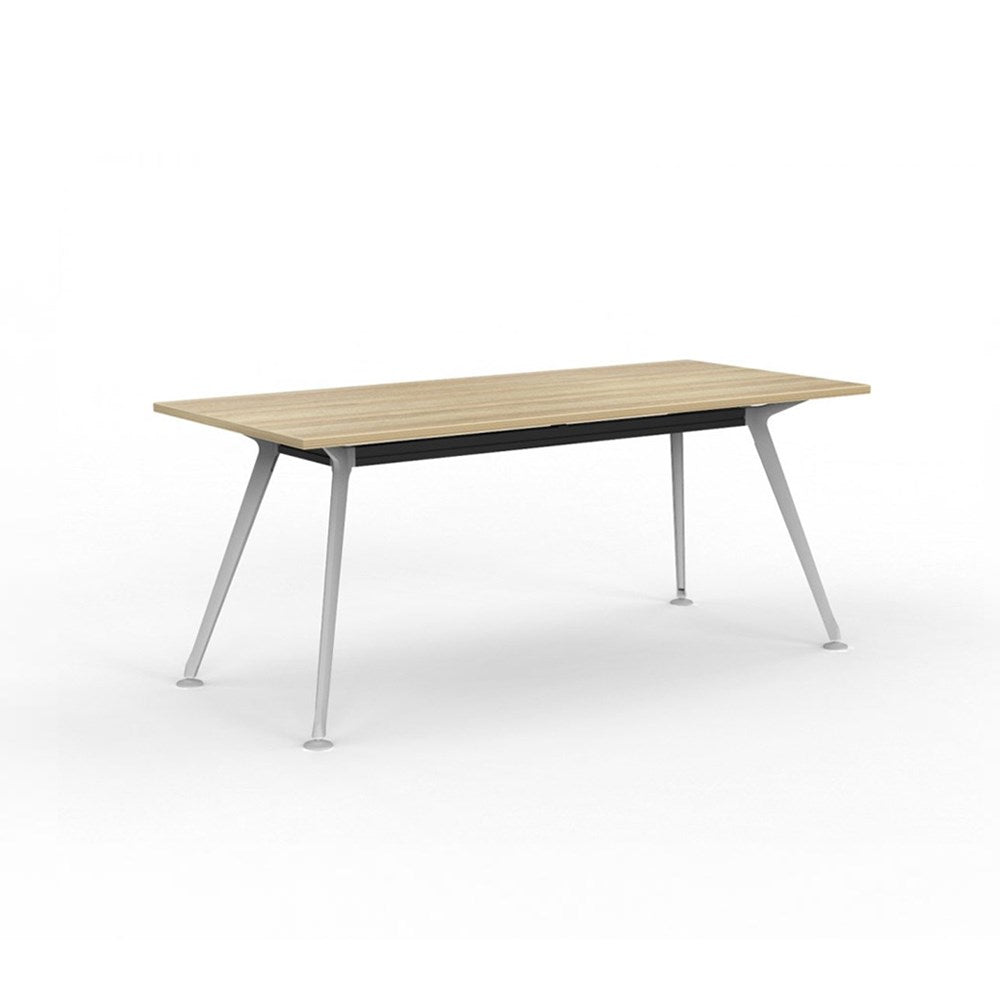 Team Rectangle Table 1800 White Frame