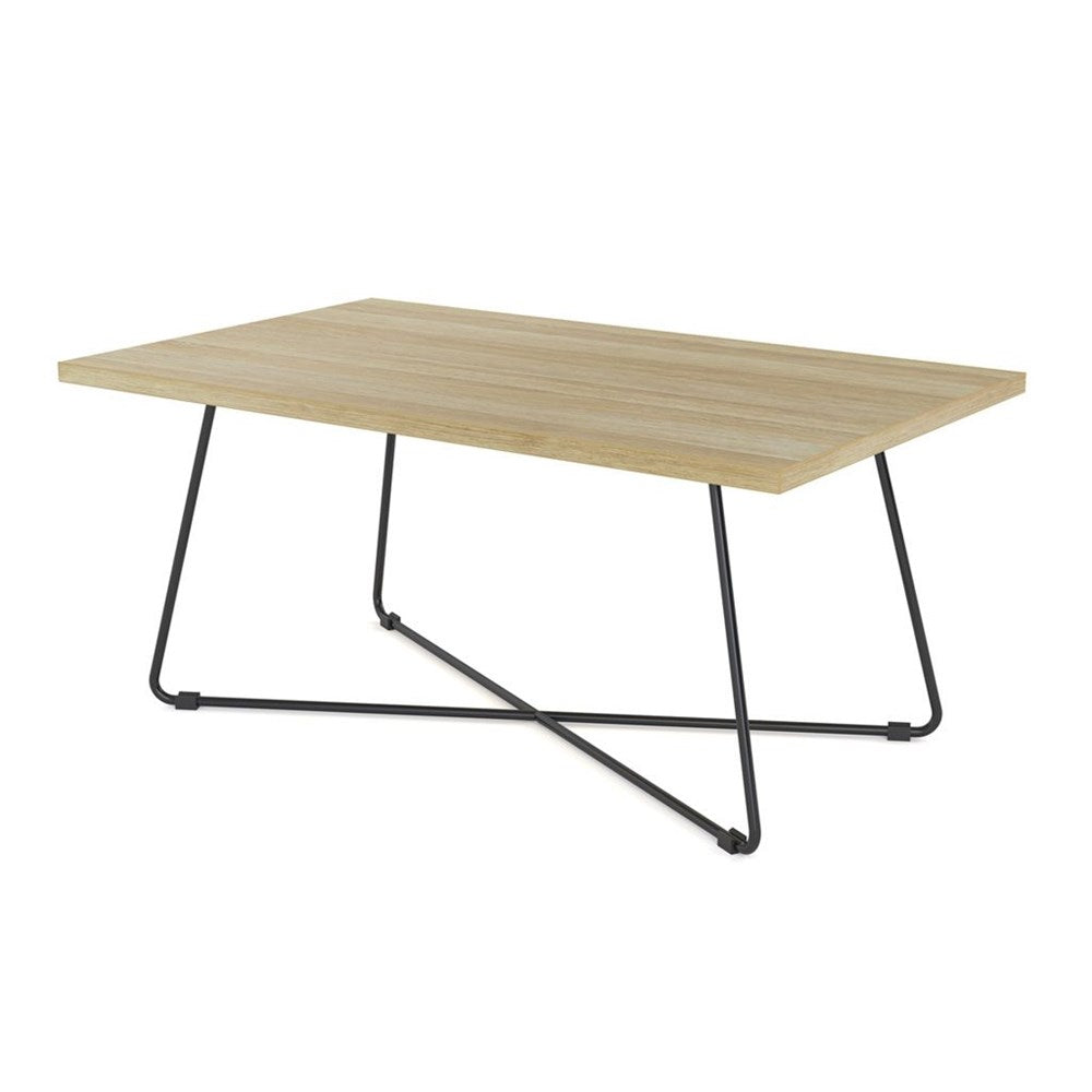 Zion Straight Coffee Table with Black Frame