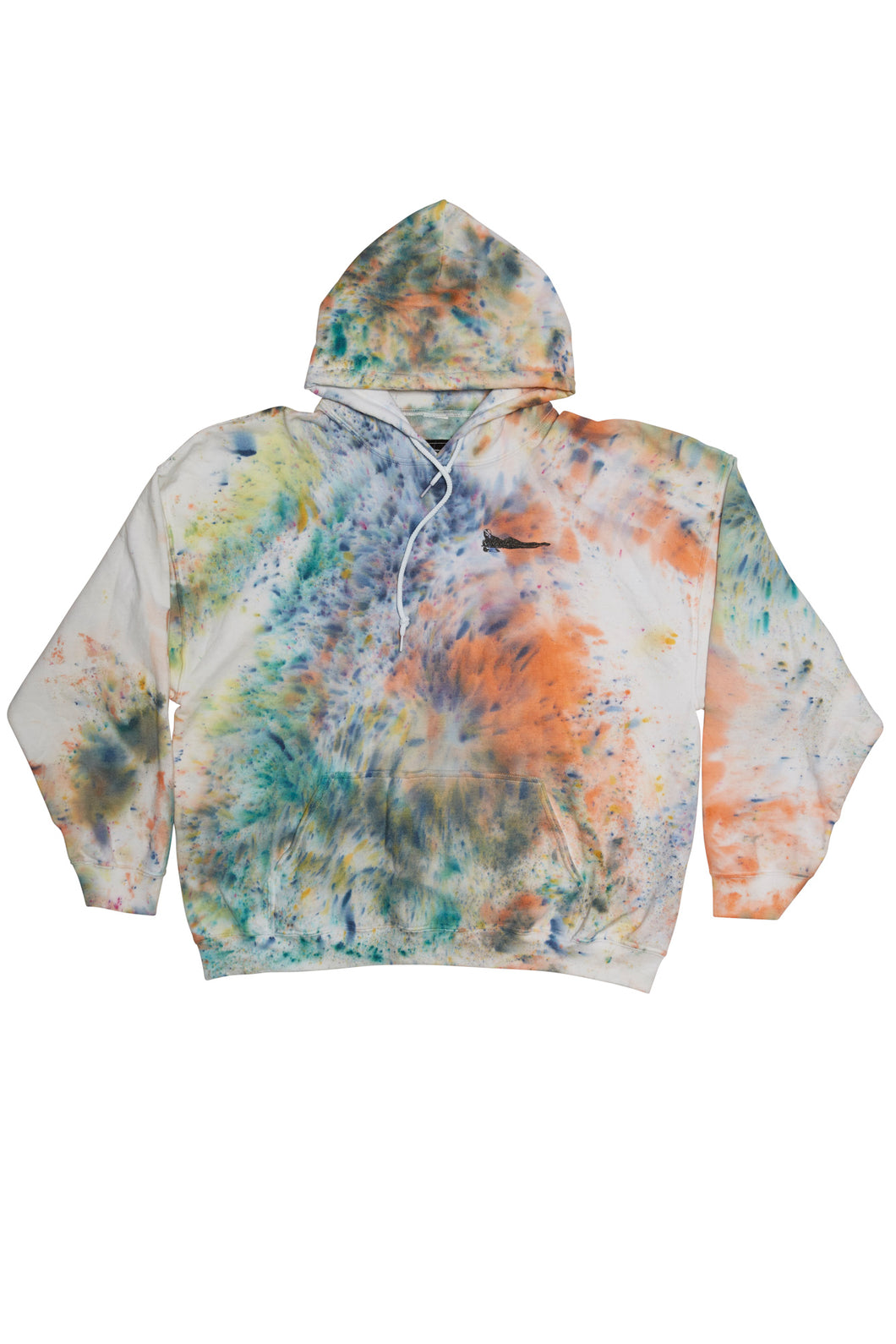Hand Dyed Hooded Sweater Extra Extra Large