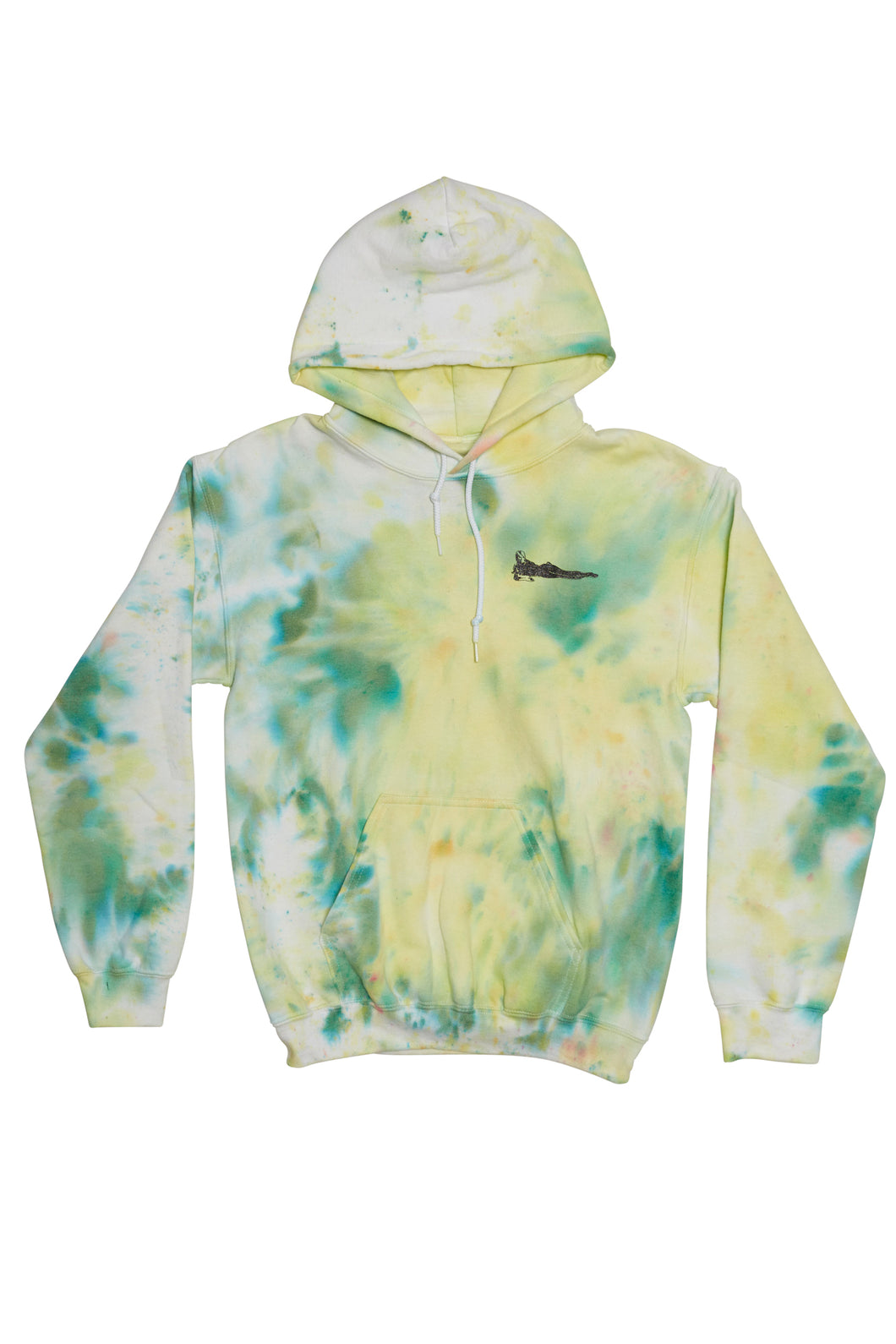 Hand Dyed Hooded Sweater Small