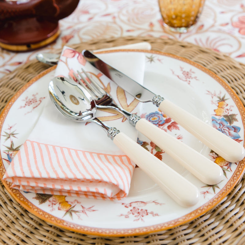 Helios 4 piece cutlery set ~ Ivory
