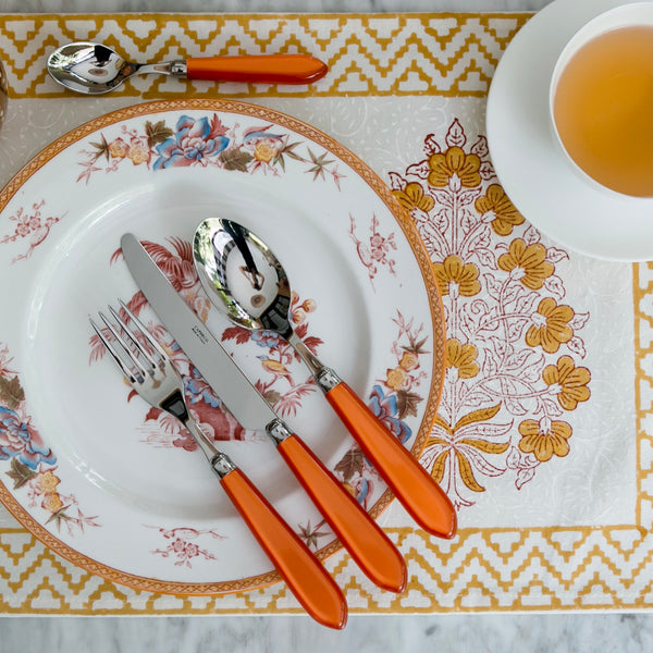 Omega 4 piece cutlery set ~ Coral