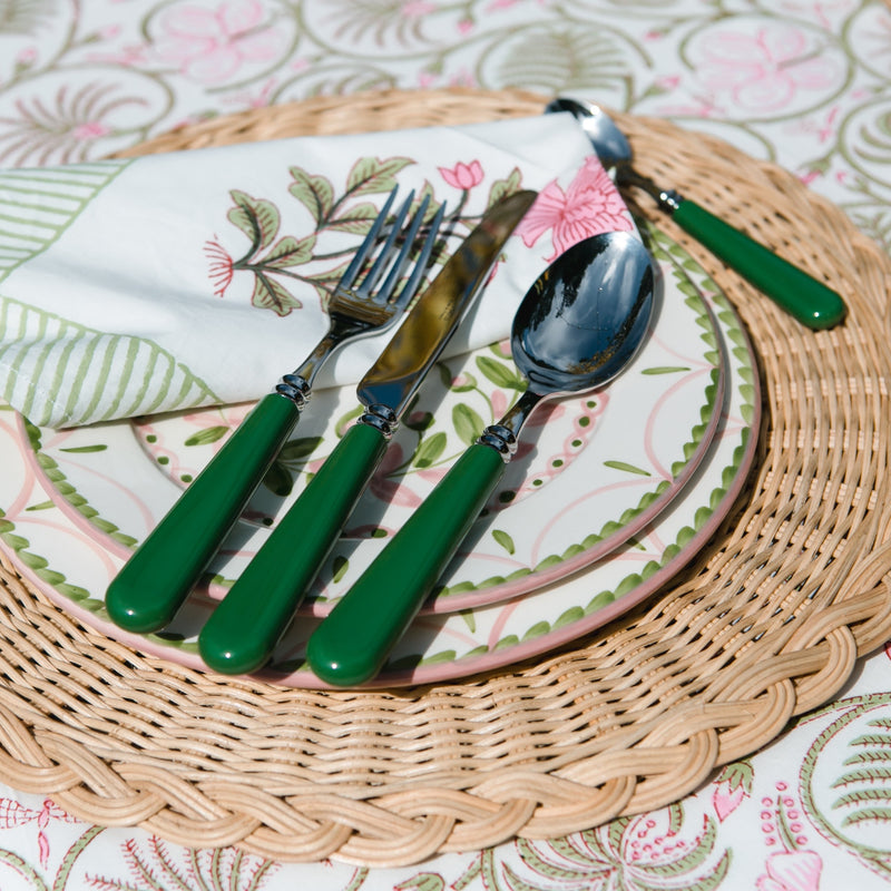 Helios 4 piece cutlery set ~ Olive