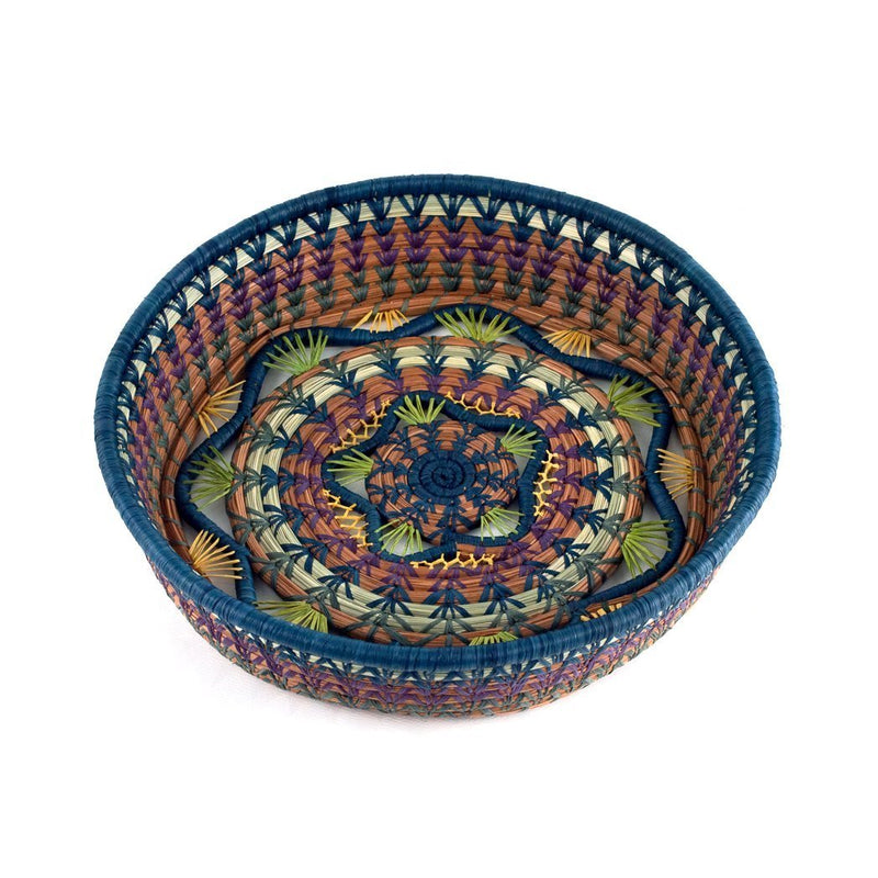 The Almika basket is handcrafted by artisans in the Guatemalan Highlands using ancient techniques.