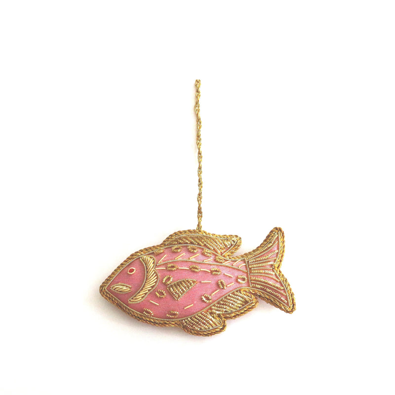 Christmas Tree Ornaments ~ Pink Fish