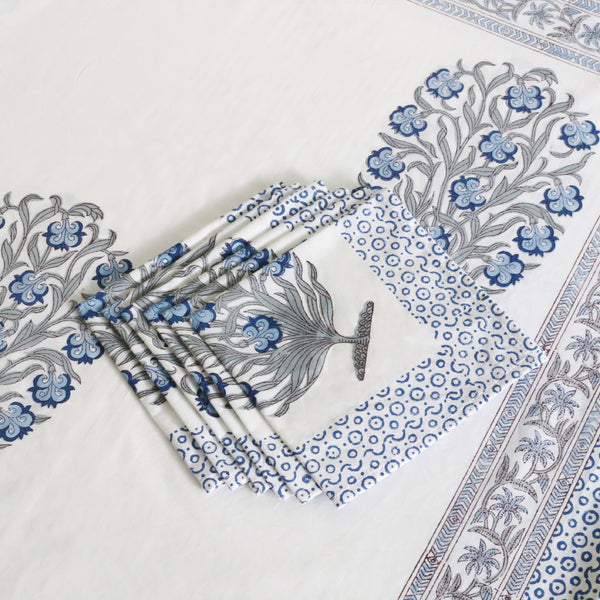 Block Print Tablecloth & Napkin Set ~ City Palace