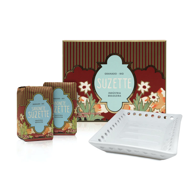 Granado Suzette 2 Soap Kit & Dish