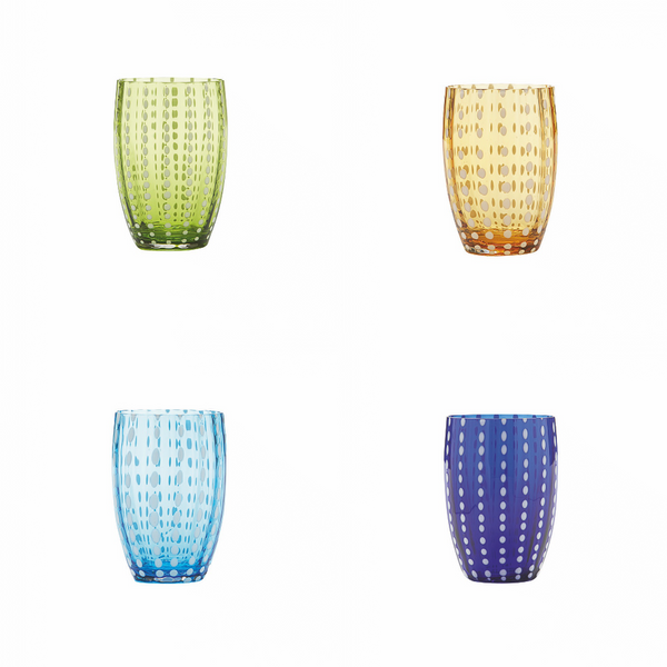 Handblown Perle Glasses (Various Colours)