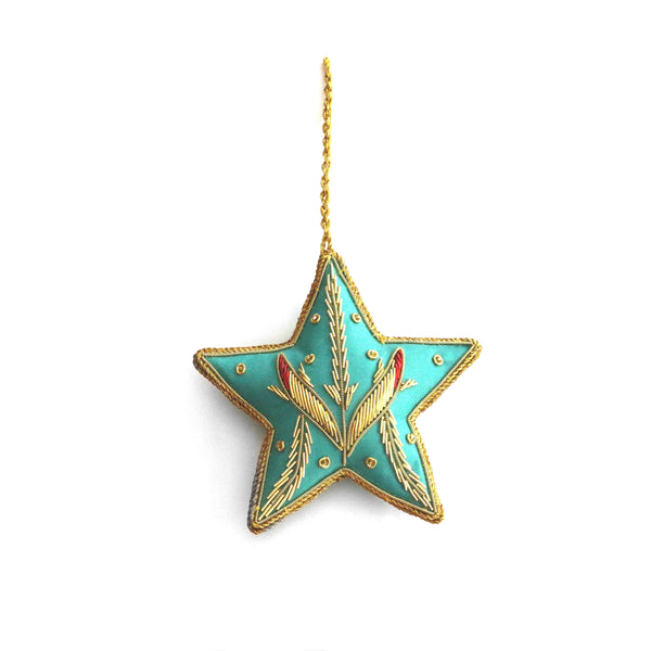 Christmas Tree Ornament ~ Turquoise Star