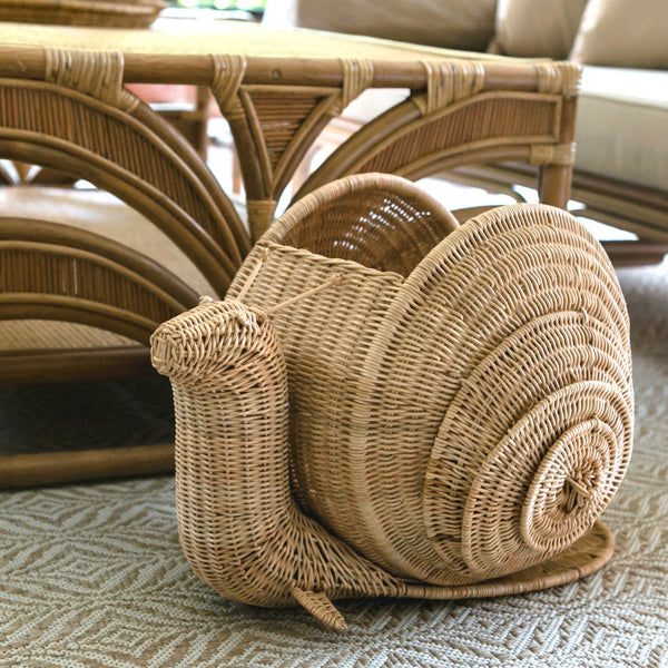 Cécile the Snail Rattan basket