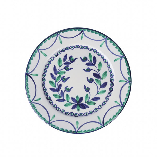Garland Starter Plate ~ Blue & Green
