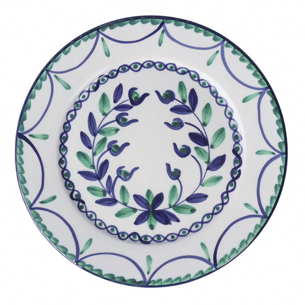 Garland Dinner Plate ~ Blue & Green