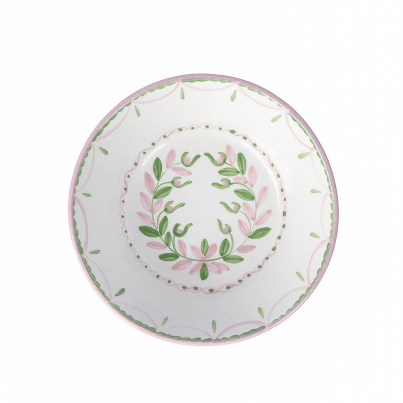Garland Serving Bowl ~ Pink & Green