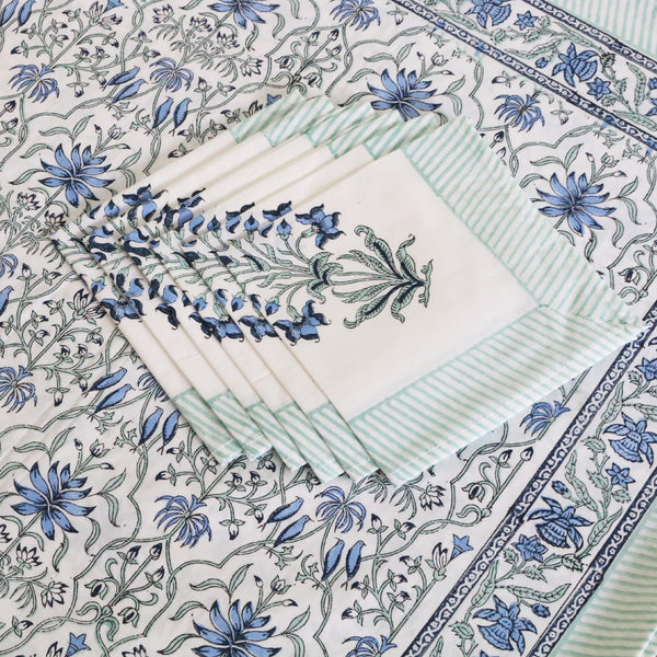 Block Print Tablecloth & Napkin Set ~ Jaigarh Fort