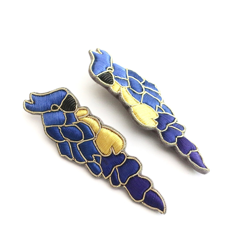 Parrot Earrings ~ Royal Blue