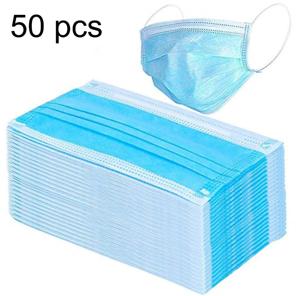 50pcs 3-Ply Disposable Face Mask