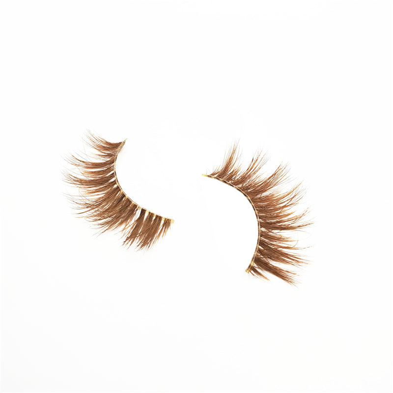 Brown Daisy - Luxury Colored Mink Lashes