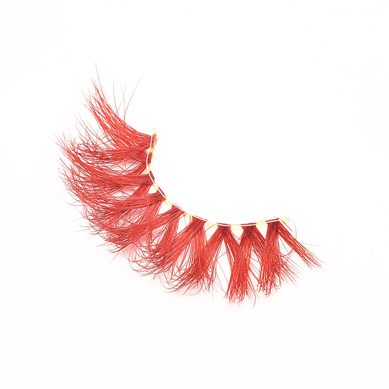 Red Rose - Luxury Colored Mink Lashes