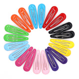 Glazed Snap Hair Clips - 10 Colors - Pack of 20