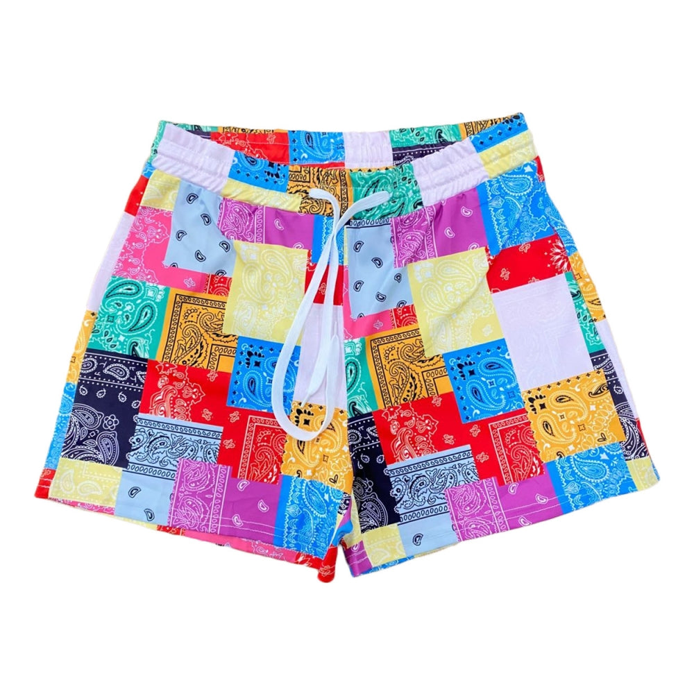 Bandana Color Blocks Shorts