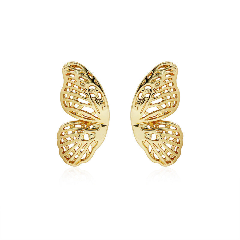 Half Butterfly Stud Earrings