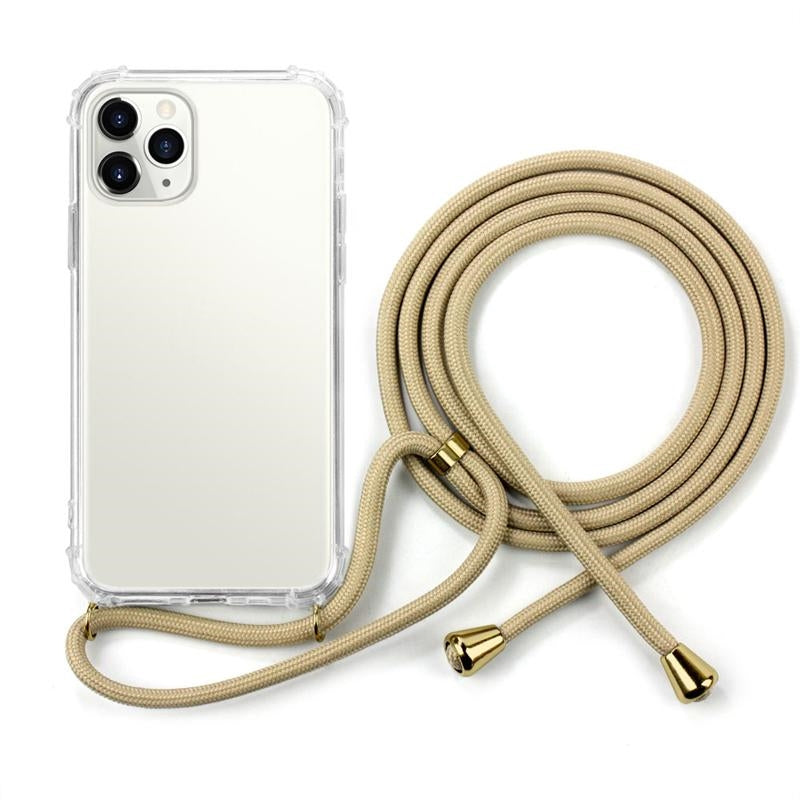 Clear Anti-shock TPU Necklace Phone Case