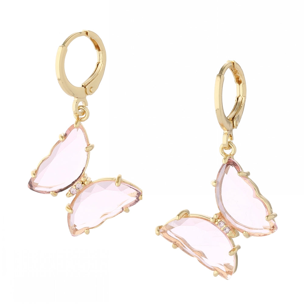 Crystal Butterfly Earrings
