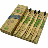 Eco-Friendly Natural Bamboo Charcoal Toothbrush - Pack Of 4