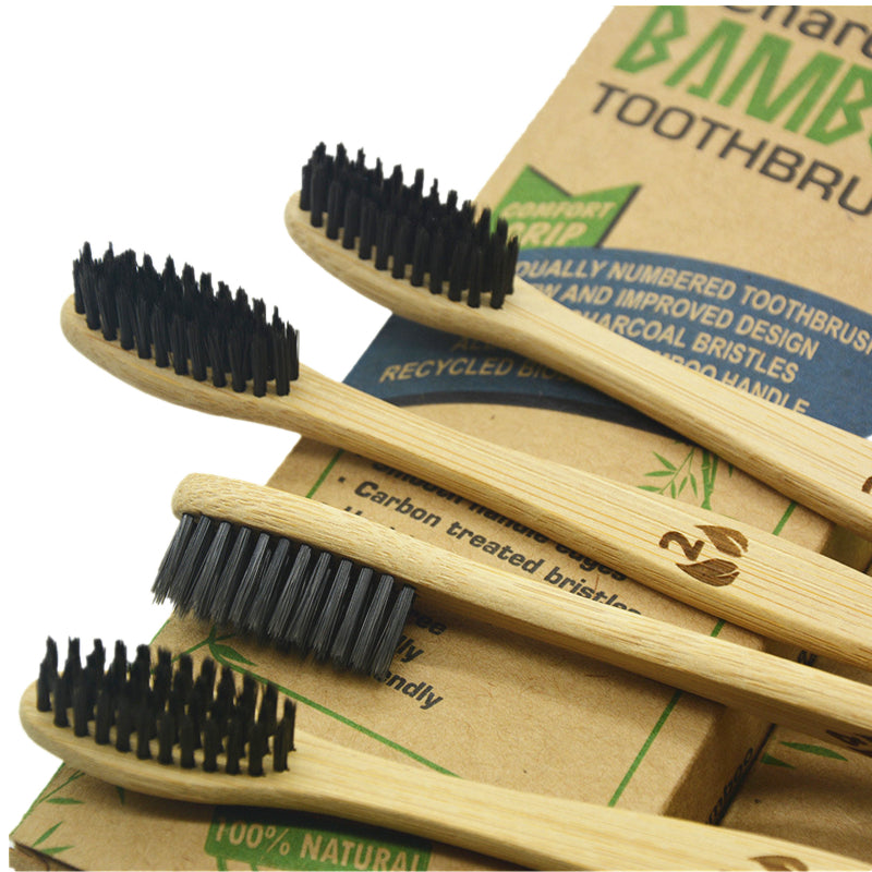 Eco-Friendly Natural Bamboo Charcoal Toothbrush